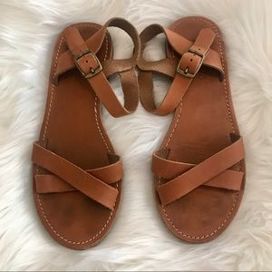 Madewell Boardwalk Leather Crisscross sandals